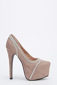 Pantofi cu toc 52564-138148 Kaki