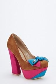 Pantofi cu toc 57153-147656 maro