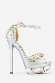 Sandale cu toc 57857-149169 Argintiu
