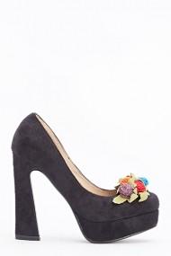 Pantofi cu toc 589773-161930 Negru