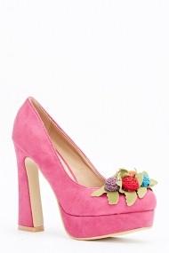 Pantofi cu toc 589773-161934 Fucsia