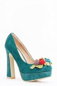 Pantofi cu toc 589773-161935 Verde