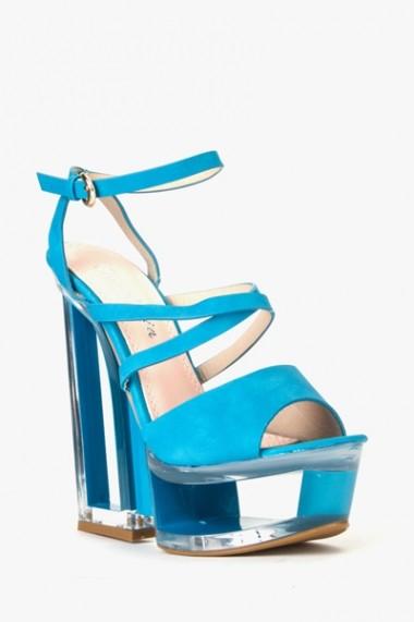 Sandale cu toc 589775-161938 maro - els