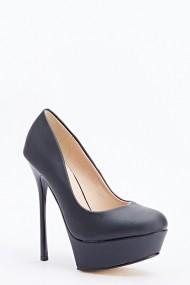 Pantofi cu toc 591165-164224 negru