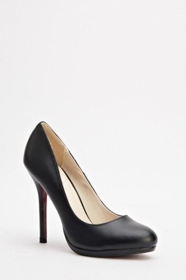 Pantofi cu toc 592656-166997 negru