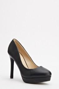 Pantofi cu toc 593627-168979 negru