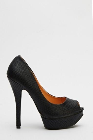 Pantofi cu toc 594278-170461 Negru