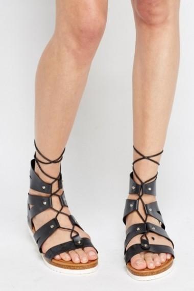 Sandale plate 595126-172425 negru
