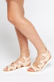 Sandale plate 595316-172929 Bej