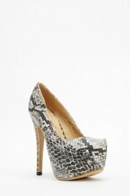 Pantofi cu toc 595425-173175 Argintiu