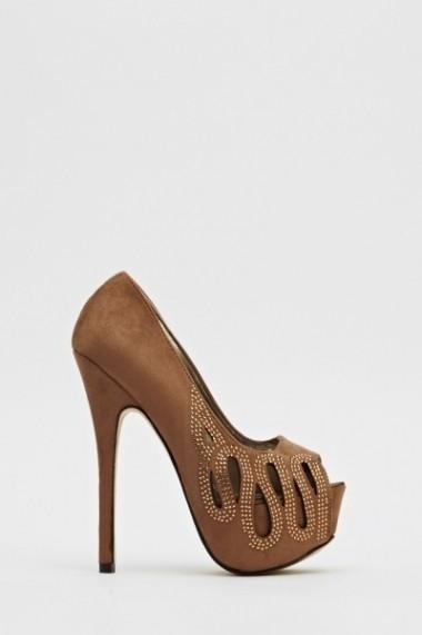Pantofi cu toc 596942-176728 Negru - els