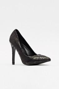 Pantofi cu toc 597303-177431 Negru