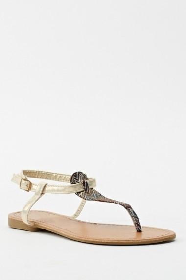 Sandale plate 598031-178807 negru - els