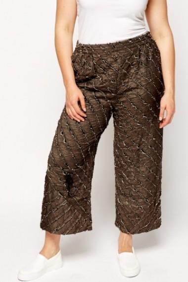 Pantaloni largi 600075-182892 Maro