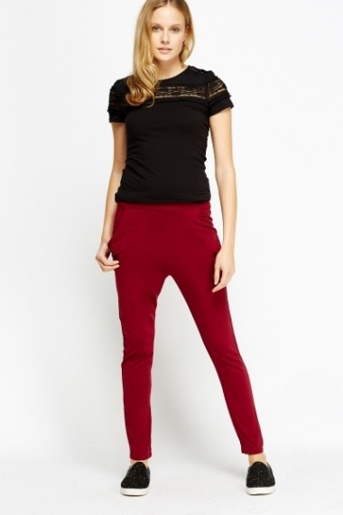 Pantaloni slim 600302-183368 Bordo
