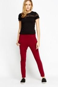 Pantaloni slim 600302-183368 Bordo