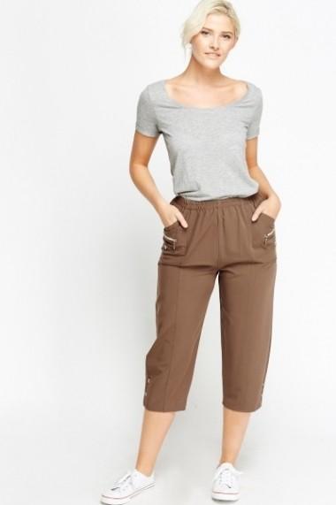 Pantaloni 3/4 600467-183766 verde