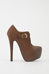 Pantofi cu toc 601651-186321 Kaki