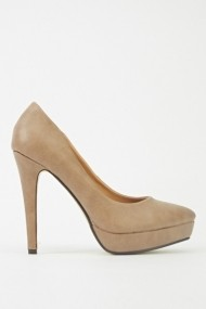 Pantofi cu toc 601657-186336 Kaki