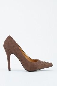 Pantofi cu toc 601814-186747 kaki