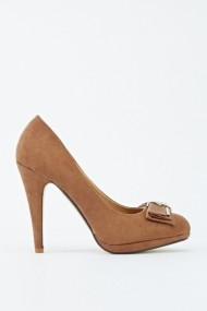 Pantofi cu toc 601817-186758 kaki
