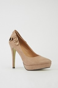 Pantofi cu toc 602226-187758 Kaki