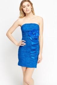 Rochie scurta 602749-188961 albastra