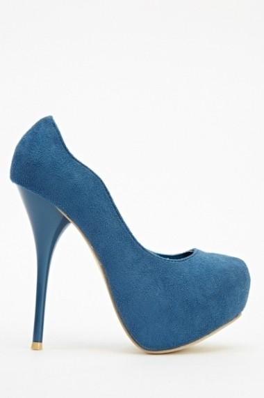 Pantofi cu toc 604308-192477 Albastru