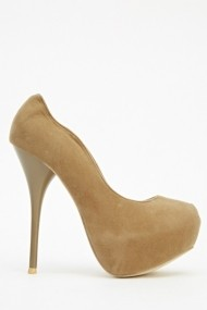 Pantofi cu toc 604308-192478 Kaki