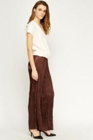 Pantaloni largi 606168-196766 maro