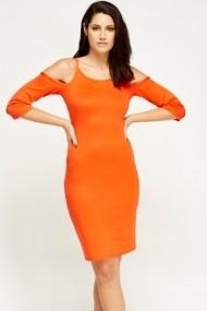 Rochie de zi 606270-196960 portocalie