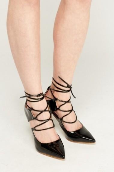 Pantofi cu toc 606324-197108 negru