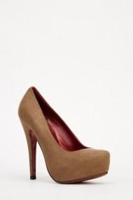 Pantofi cu toc 606350-197157 Kaki