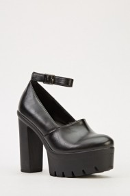 Pantofi cu toc 606775-198108 negru