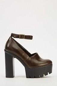 Pantofi cu toc 606775-198109 Maro