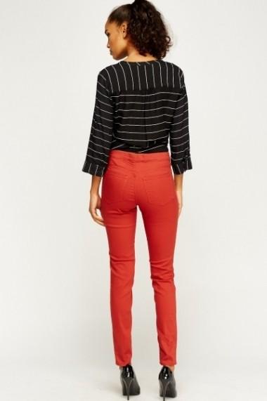 Pantaloni slim 607598-200154 maro