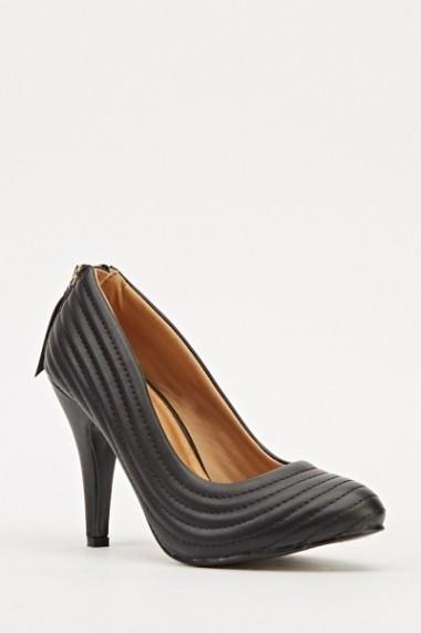 Pantofi cu toc 608493-202215 negru