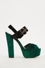 Sandale cu toc 608963-203272 Verde