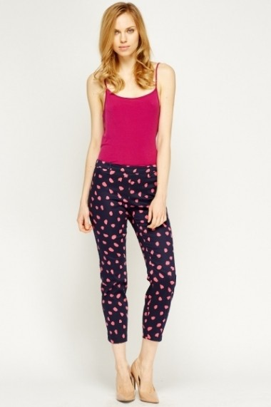 Pantaloni slim 609032-203414 bleumarin