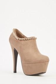 Pantofi cu toc 609230-203774 Kaki