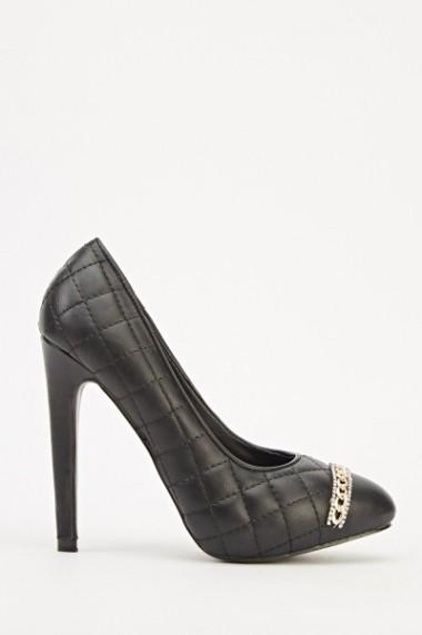Pantofi cu toc 609240-203796 Negru