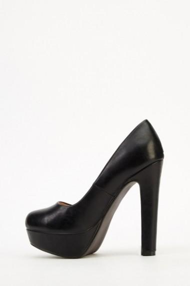 Pantofi cu toc 609314-203975 negru - els