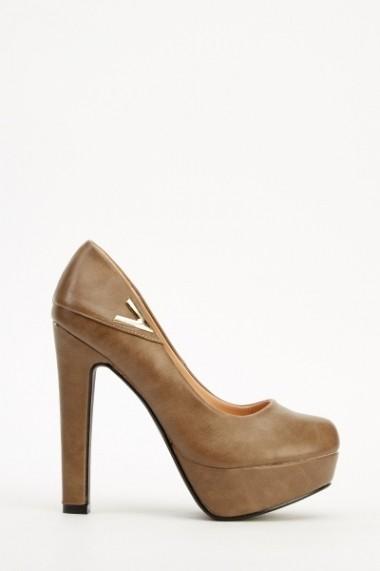 Pantofi cu toc 609314-203975 negru