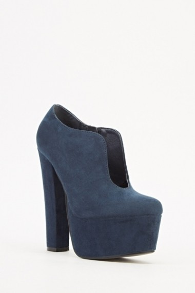 Pantofi cu toc 609345-204029 albastru