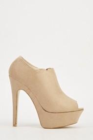 Pantofi cu toc 609444-204214 Bej