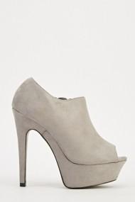 Pantofi cu toc 609490-204334 Gri