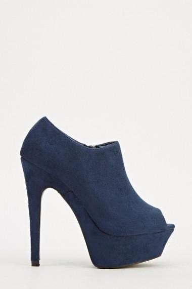 Pantofi cu toc 609490-204335 Albastru