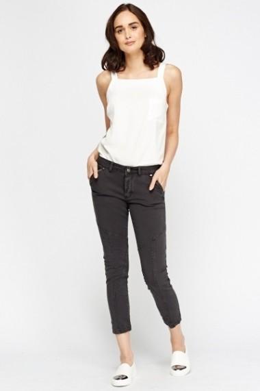 Pantaloni slim 610140-205891 gri