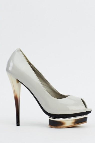 Pantofi cu toc 610247-206130 negru