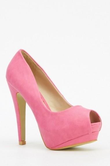 Pantofi cu toc 610262-206202 Albastru